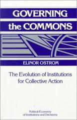 Cover of Governing the Commons: The Evolution of Institutions for Collective Action.