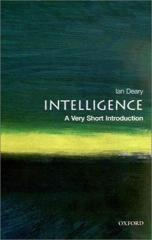 Cover of Intelligence: A Very Short Introduction.