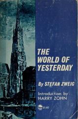 Cover of The World of Yesterday.