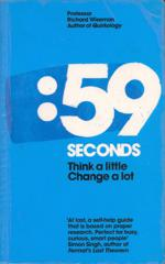 Cover of 59 Seconds: Think a Little, Change a Lot.