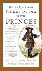 Cover of On the Manner of Negotiating with Princes.