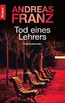 Cover of Tod eines Lehrers (Peter Brandt, #1).