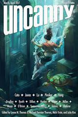 Cover of Uncanny Magazine Issue 15: March/April 2017.